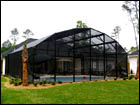 Bronze Pool Enclosure Dome Roof Style