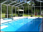 White Gable-Hip Style Pool Enclosure