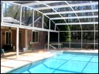 White Pool Enclosure Dome-Roof Style