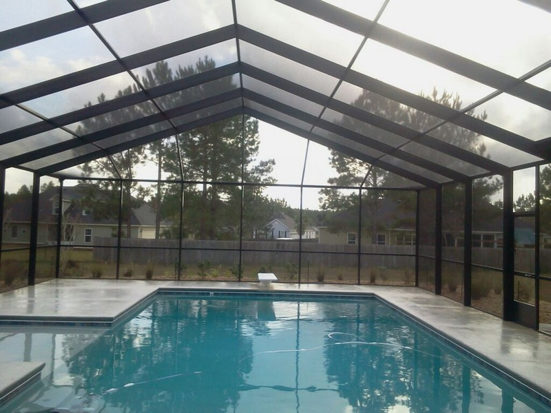 Florida fence screen rooms covered